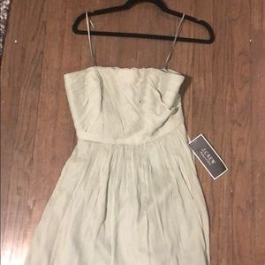 Strapless green J.Crew dress